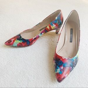 French Connection• Korina Fractured Floral Heel 10